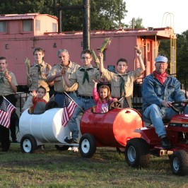 The Scouts and our wonderful Barrel Train