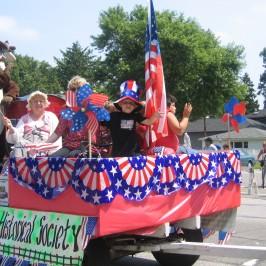 Griffith Historical Society's Centennial Parade float