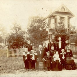 First Town Council President, William Peter Govert, and family