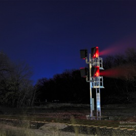 One of the many train signals in Griffith