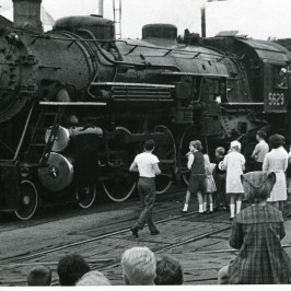 A steam engine visits Griffith