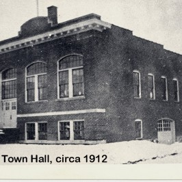 A picture of our town hall taken many years ago